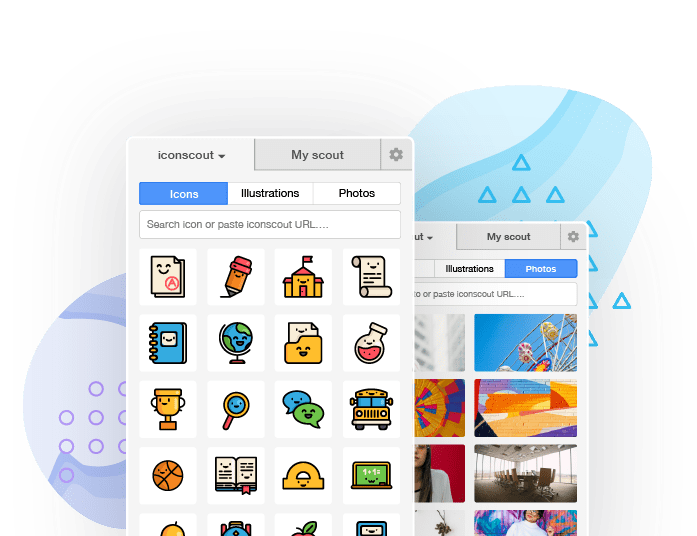 Access to Icons, Illustrations and Stock Photos into Sketch, Adobe Tools, Microsoft Office, GSuite and many more