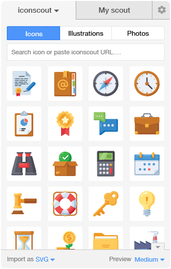 Icons in Icondrop
