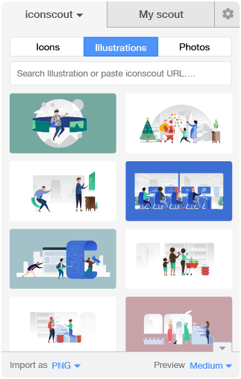Illustrations in Icondrop